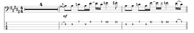 hey bulldog beatles bass tab intro
