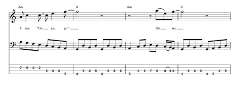 hello, goodbye beatles bass tab verse