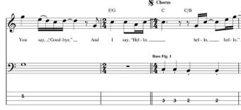 hello goodbye beatles bass tab