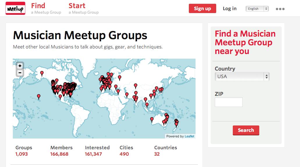 find musicians meetup