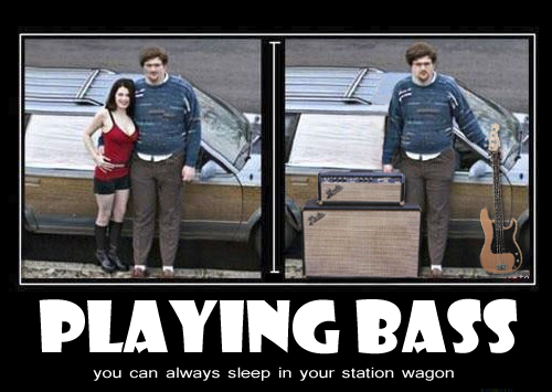 bass playing girlfriend meme