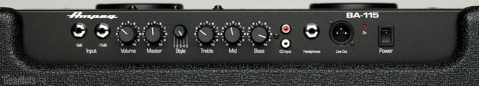 ampeg ba115 top preamp control panel