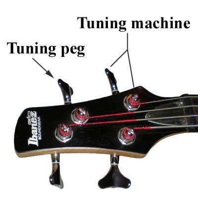 bass guitar tuning peg