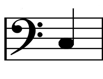 C bass clef