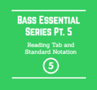 reading tab and standard notation bass guitar smart bass guitar