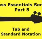 sbg learning tab and standard notation for bass guitar
