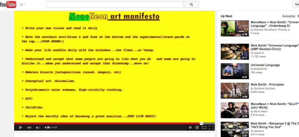 mononeon youtube manifesto
