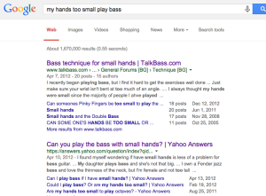 playing bass small hands, small hands bass guitar google search results