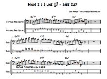 Minor 2 5 1 Line Bass Clef jazz bass soloing john marley